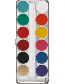 "Maquillage Kryolan Aquacolor Palette 12 couleurs ""FP"""