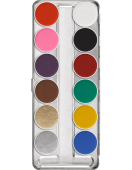 "Maquillage Kryolan Aquacolor Palette 12 couleurs ""SN"""