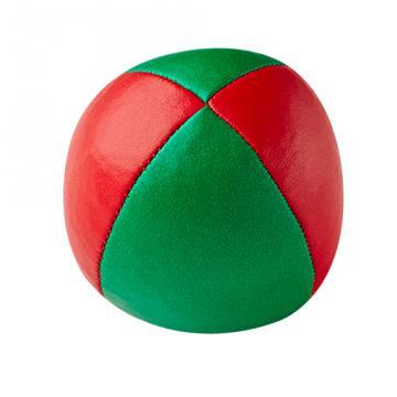 Balle de jonglerie Henry's en cuir - Ø 58 mm / Rouge-Vert