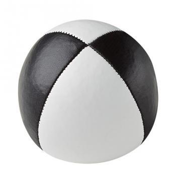 Balle de jonglerie Henry's sac compact cuir 67 mm / Blanc-Noir
