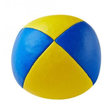 Balle de jonglerie Henry's en cuir - Ø 58 mm - Bleu/Jaune