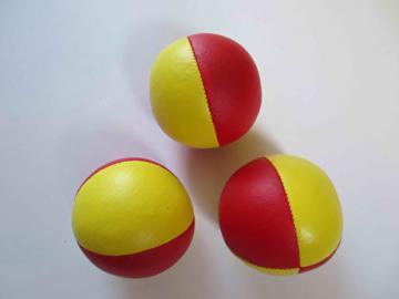 Balle Classic Tissu - 68 mm - 120 gr - Lot de 3 balles / Jaune-Rouge