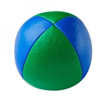 Balle de jonglerie Henry's en cuir - Ø 58 mm / Bleu-Vert