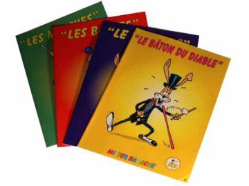 Fascicules Mister Babache sur la Jonglerie des Balles, Massues, Diabolos ou Bâtons du Diable.