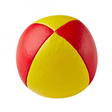 Balle de jonglerie Henry's en cuir - Ø 58 mm / Jaune-Rouge