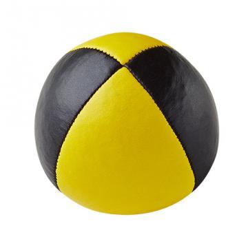 Balle de jonglerie Henry's en cuir - Ø 58 mm / Noir-Jaune