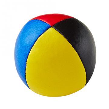 Balle de jonglerie Henry's en cuir - Ø 58 mm / Bleu-Jaune-Noir-Rouge
