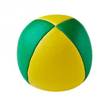 Balle de jonglerie Henry's en cuir - Ø 58 mm / Jaune-Vert