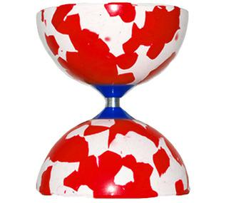 Diabolo Juggle Dream Jester - Ø100mm - 140gr / Blanc-Rouge