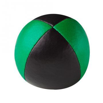 Balle de jonglerie Henry's sac compact cuir 67 mm / Noir-Vert