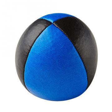 Balle de jonglerie Henry's en cuir - Ø 58 mm / Noir-Bleu