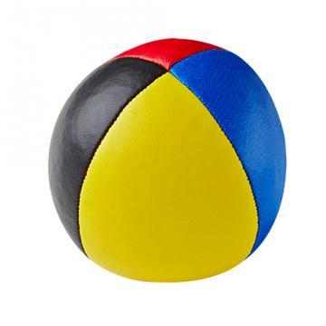 Balle de jonglerie Henry's sac compact cuir 67 mm / Bleu-Jaune-Noir-Rouge