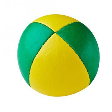 Balle de jonglerie Henry's sac compact cuir 67 mm / Jaune-Vert