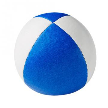 Balle de jonglerie Henry's sac compact cuir 67 mm / Blanc-Bleu