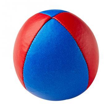 Balle de jonglerie Henry's en cuir - Ø 58 mm / Bleu-Rouge