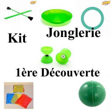 Kit de matériel de Jonglerie 1ère Découverte Vert