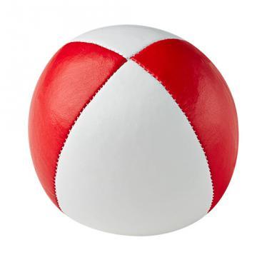 Balle de jonglerie Henry's sac compact cuir 67 mm / Blanc-Rouge