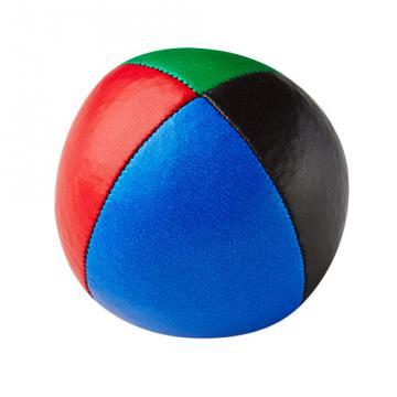 Balle de jonglerie Henry's sac compact cuir 67 mm / Bleu-Noir-Rouge-Vert