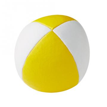 Balle de jonglerie Henry's sac compact cuir 67 mm / Blanc-Jaune