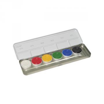 Maquillage Kryolan Aquacolor Palette 6 couleurs