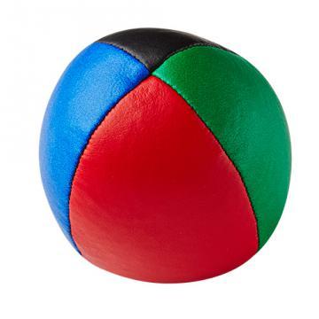 Balle de jonglerie Henry's en cuir - Ø 58 mm / Bleu-Noir-Rouge-Vert