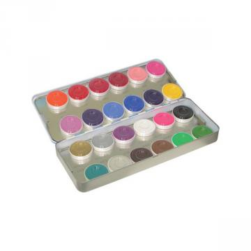 Maquillage Kryolan Aquacolor Palette 24 couleurs
