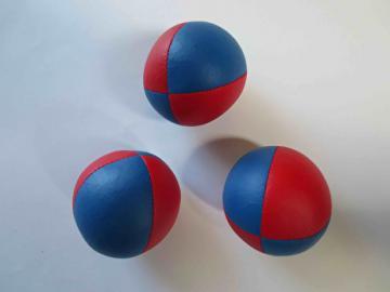 Balle Classic Tissu - 68 mm - 120 gr - Lot de 3 balles / Bleu-Rouge